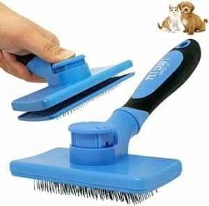 1 pc of self cleaning grooming slicker pet brush cats and dogs short long haired fur