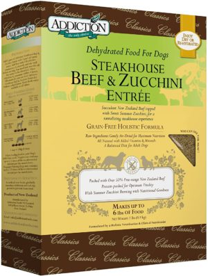Can dogs eat zucchini? addiction grain free taurine enriched dehydrated dog food made in new zealand