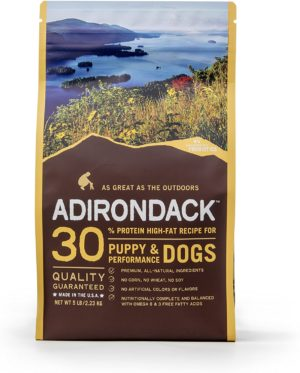 adirondack dog food protein high fat recipe for puppy performance dogs