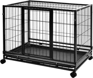 amazon basics heavy duty stackable pet kennel with tray
