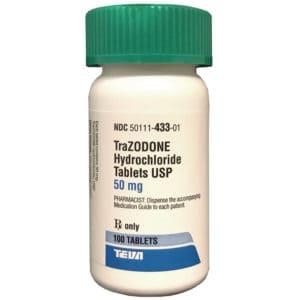 apotex rx trazodone 50 mg x 100 tabs