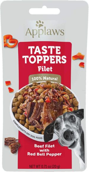 Can dogs eat peppers? applaws taste toppers beef red pepper fillet wet dog food