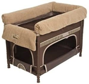 arms reach concepts duplex Dog Bunk Beds cocoa with camel liner medium