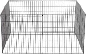 bestpet pet playpen dog fence exercise pen metal wire portable dog crate kennel cage black
