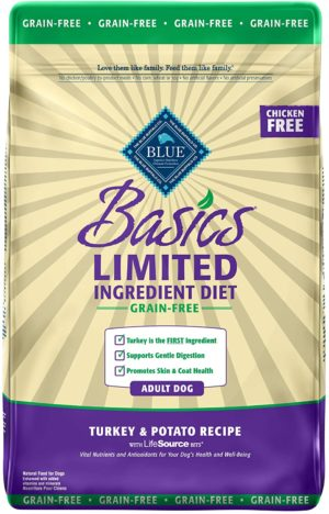 blue buffalo basics limited ingredient diet grain free natural adult dry dog food