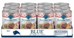 blue buffalo family favorites natural adult wet dog food backyard bbq