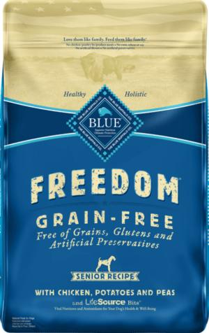 blue buffalo freedom senior chicken recipe grain free dry dog food