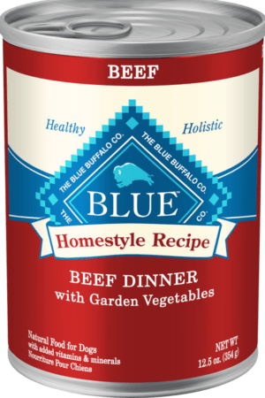 blue buffalo homestyle recipe beef dinner with garden vegetables sweet potatoes canned dog food