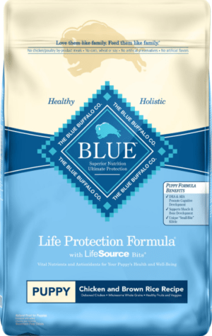blue buffalo life protection formula puppy chicken brown rice recipe dry dog food
