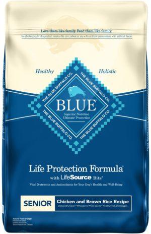 blue buffalo life protection formula senior dog food natural dry dog food for senior dogs chicken brown rice
