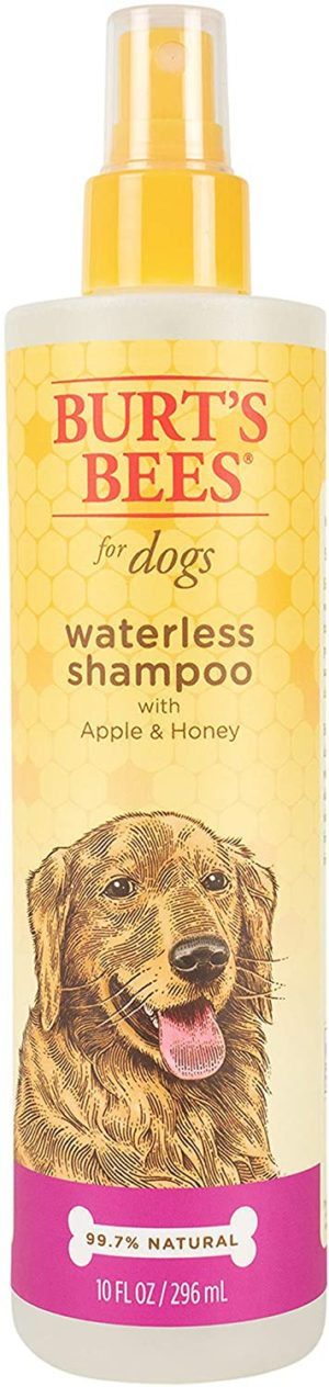 burts bees for dogs natural waterless shampoo spray for dogs made with apple and honey quick easy way to bathe your dog sulfate paraben free made in usa 10 oz