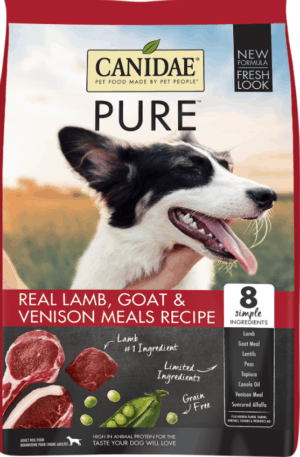 canidae grain free pure limited ingredient lamb goat venison meals recipe dry dog food