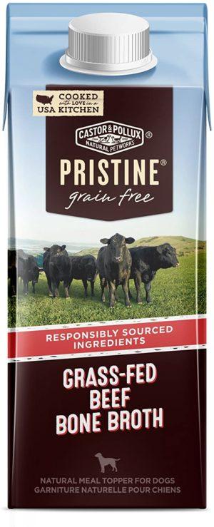castor pollux pristine grain free bone broth dog food topper