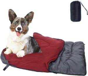 cheerhunting dog sleeping bag waterproof travel large portable dog bed with storage bag for indoor outdoor warm camping hiking backpacking