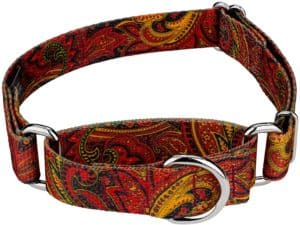 country brook petz martingale dog collar paisley collection made in the u s a