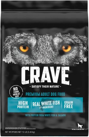crave grain free high protein adult dry dog food white fish salmon 1