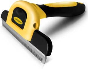 dakpets pet grooming brush effectively reduces shedding by up to 95 professional deshedding tool for dogs and cats
