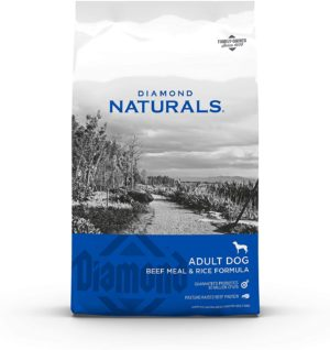 diamond naturals dry food for adult dog beef and rice formula 40 pound bag