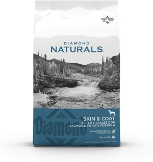diamond naturals skin coat real salmon and potato recipe dry dog food with protein superfoods probiotics and essential nutrients to promote healthy skin and coat 1