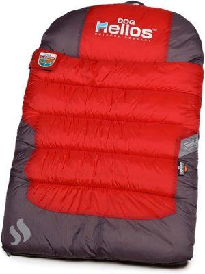 doghelios trail barker multi surface water resistant travel camper sleeper pet dog bed mat wit blackshark technology one size red dark grey