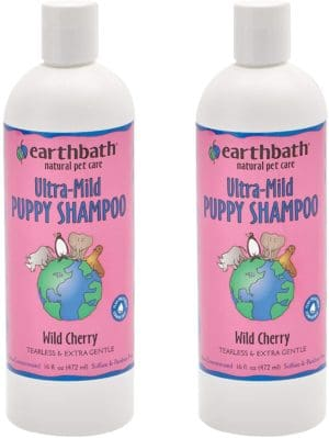 earthbath ultra mild wild cherry puppy shampoo tearless extra gentle aloe vera vitamin e leave your pup smelling and feeling better than ever