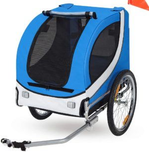 esright dog bicycle trailer pet bike trailer ride fun carrier jogging kit for small and medium dogs
