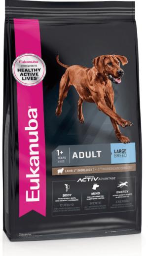 eukanuba adult large breed lamb 1st ingredient adult dry dog food
