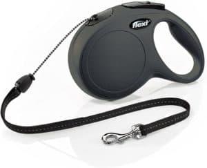 flexi new classic retractable dog leash cord 26 ft medium black