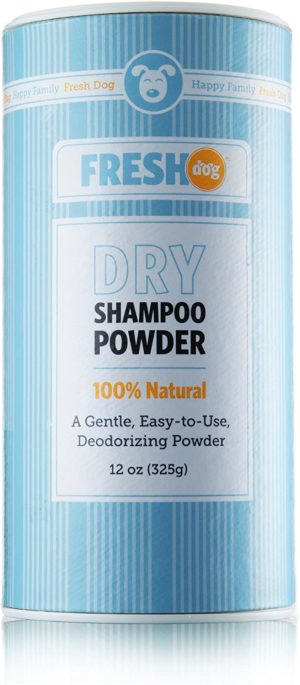 fresh dog dry shampoo powder for dogs and puppies all natural 12 ounces