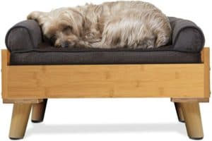 furhaven pet bed frame for small medium and large dogs and cats elevated mid century modern style platform dog bed frame compatible with furhaven Dog Bunk Beds
