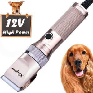 hansprou dog shaver clippers high power dog clipper low noise plug in pet trimmer pet professional grooming clippers with guard combs brush for dogs cats and other animal