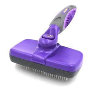 hertzko self cleaning slicker brush gently removes loose undercoat mats and tangled hair your dog or cat will love being brushed with the grooming brush