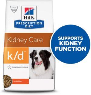 hills prescription diet kidney care with chicken dry dog food