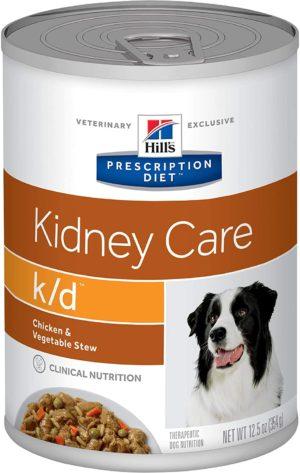 Hills Prescription kidney care wet dog food