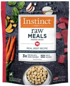 instinct freeze dried raw dog food raw meals grain free high protein freeze dried dog food