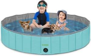 kundu round heavy duty pvc outdoor pool bathing tub portable foldable