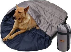 kz dotnz waterproof warm dog sleeping bag with comperssion bag camping portable pet sleeping bed cave for indoor outdoor warm camping hiking backpacking