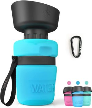 lesotc pet water bottle for dogs dog water bottle foldable dog travel water bottle dog water dispenser lightweight convenient for travel bpa free