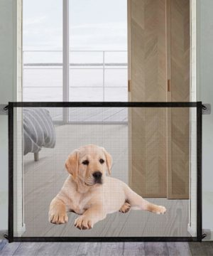 magic dog gate queenii pet baby safety guard gate portable folding mesh magic gate baby safety gates install anywhere safety fence for hall doorway