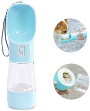 maocg dog water bottle for walking multifunctional and portable dog travel water dispenser with food containerdetachable design combo cup for drinking and