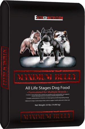maximum bully elite k9 nutrition chicken and pork dog food