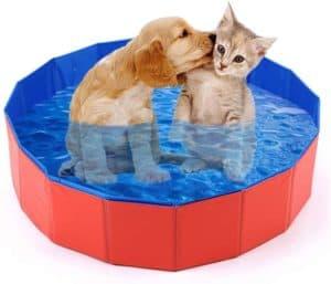 mcgrady1xm collapsible pet dog bath pool kiddie pool hard plastic foldable bathing tub pvc outdoor pools for dogs cat kid