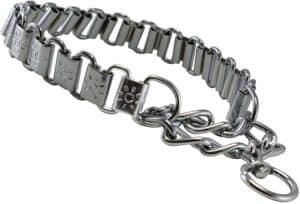 metal plates martingale dog collar 3mm link chrome