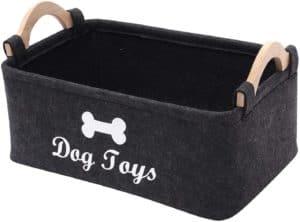 morezi felt pet toy box and dog toy box storage basket chest organizer perfect for organizing pet toys blankets leashes and food