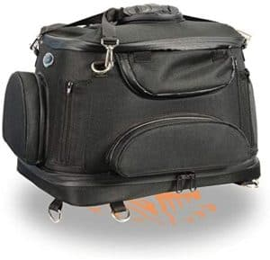 motorcycle waterproof dog cat pet carrier sissy bar luggage rack bag with straps blk textile