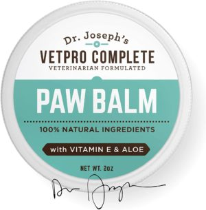 natural vet formulated paw and nose balm wax for dogs and cats with vitamin e and aloe heals soothes and protects cracked and dry paws and noses made in usa