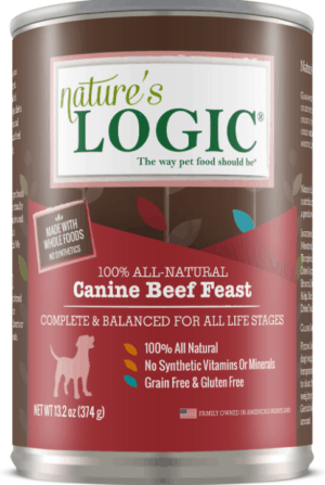 natures logic canine beef feast all life stages grain free canned dog food 13 2 oz case of 12