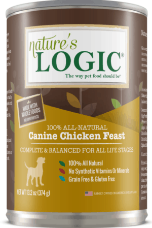 natures logic canine chicken feast all life stages grain free canned dog food 13 2 oz case of 12
