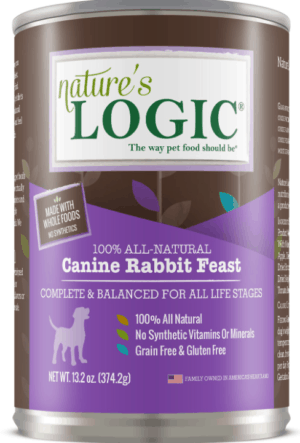 natures logic canine rabbit feast all life stages grain free canned dog food 13 2 oz case of 12