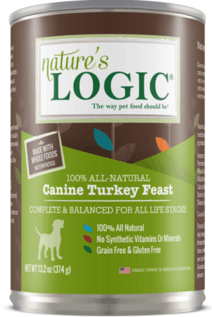 natures logic canine turkey feast all life stages grain free canned dog food 13 2 oz case of 12